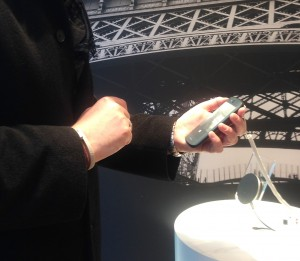 Holding the light YotaPhone 2 at the London concept store | Susi Castle