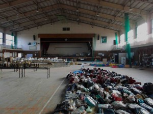 School gym post 3/11 filled with lost belongings