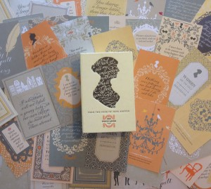 a collection of jane austen postcards