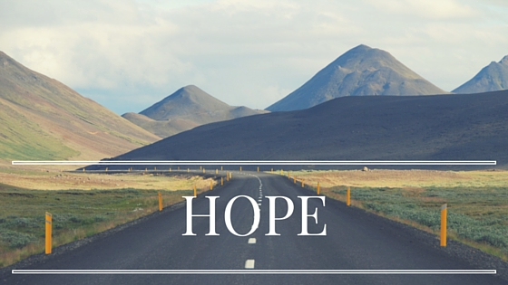 Hope for the path ahead