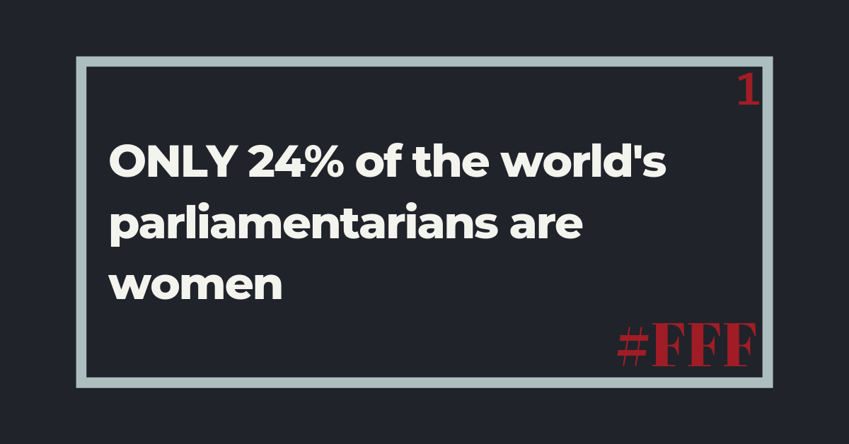 Only 24% of the world's parliamentarians are women – Week 1