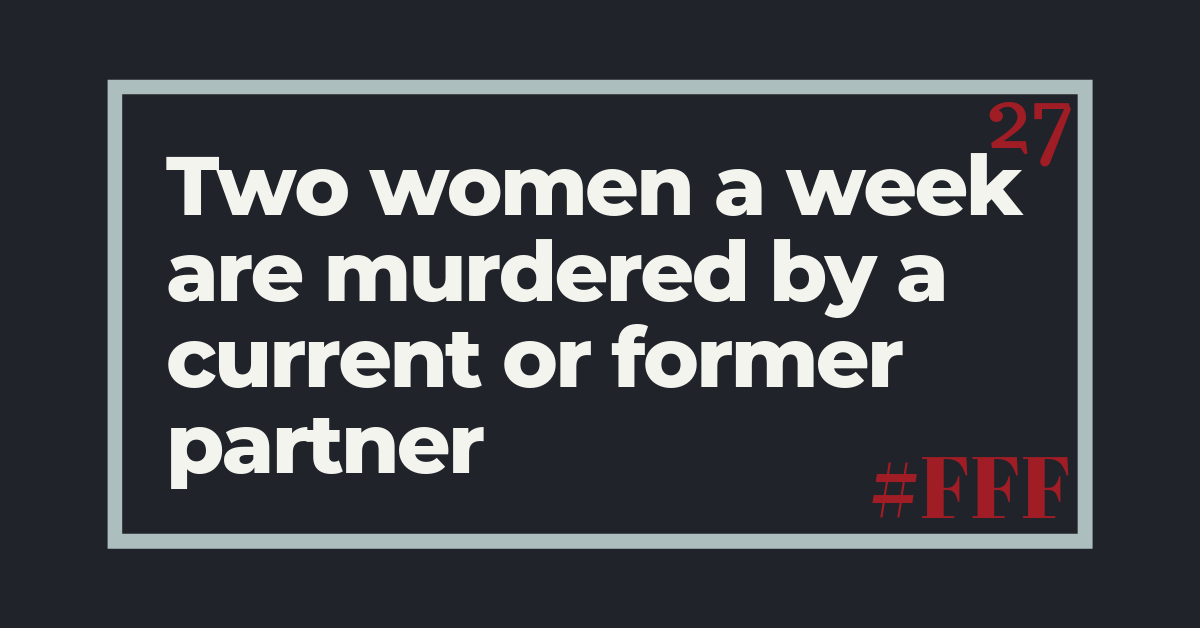 Two women a week are murdered by a current or former partner – Week 27